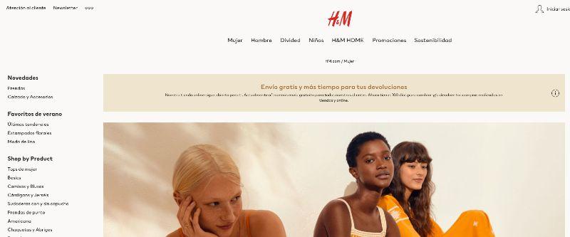 H&M tienda parecida a ASOS