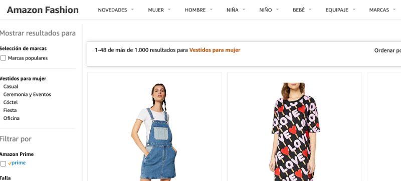 Amazon, tienda como Shein