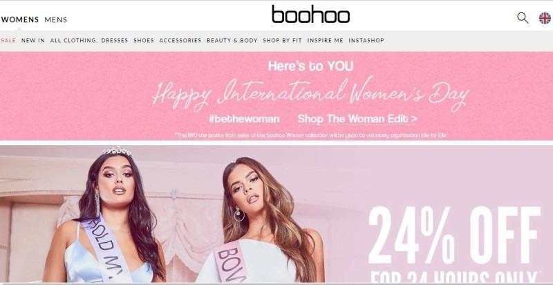 Boohoo, tiendas de ropa online como asos