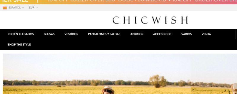 Chiwish tienda como Shein