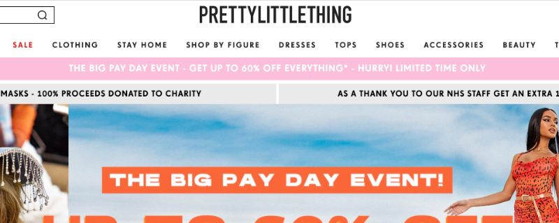 Prettylittlething, tienda como Shein
