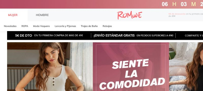 Romwe, tienda parecida a Shein