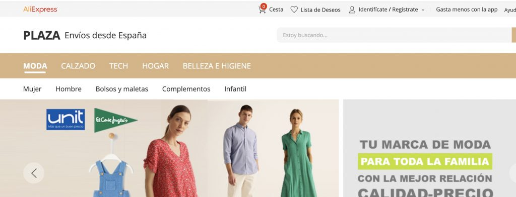 AliExpress Plaza España como alternativa a AliExpress