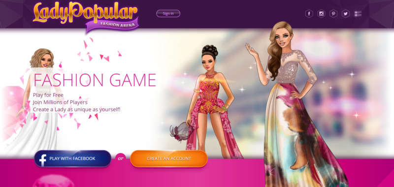 Lady Popular, juego parecido a IMVU
