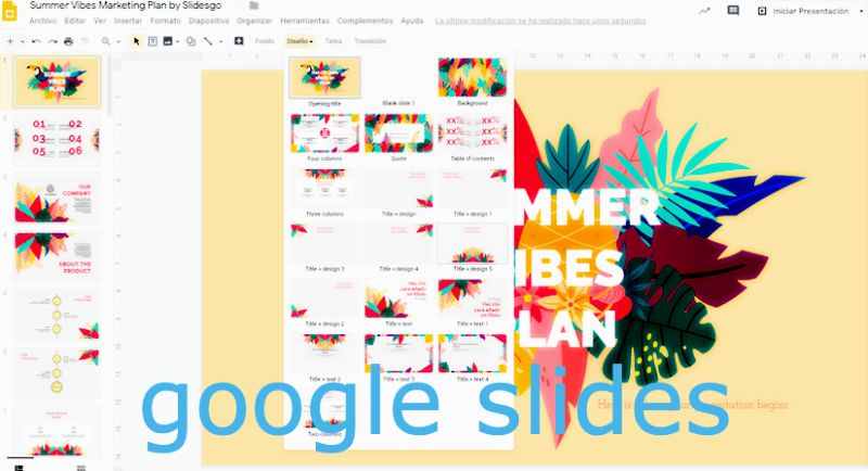 Google Slides como alternativa gratuita a Powerpoint