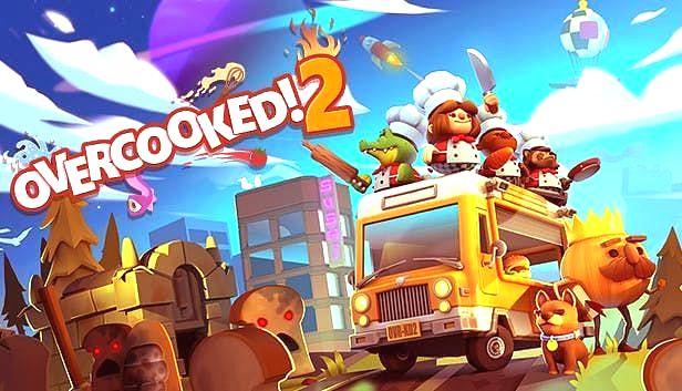 overcooked 2, es un juego parecido a Human Fall Flat